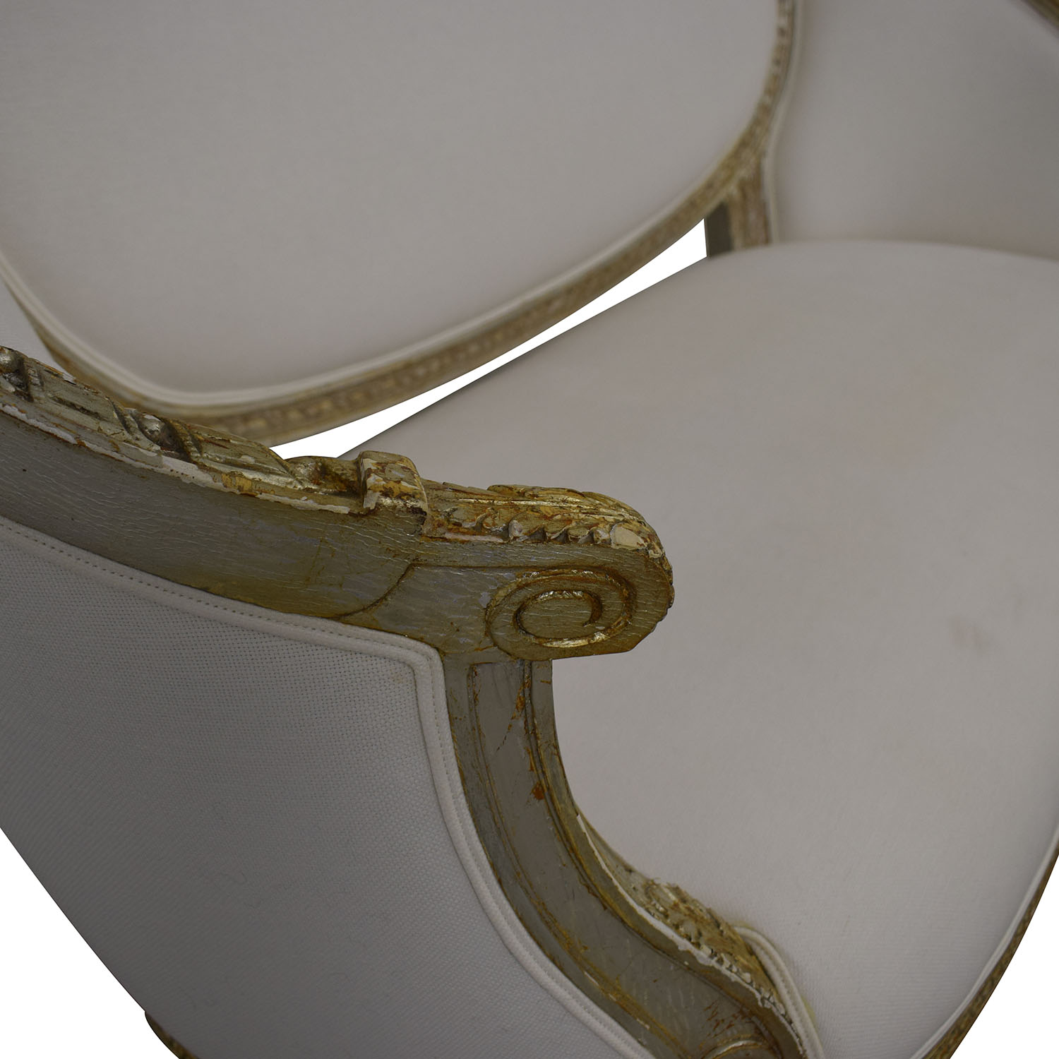 shop White Victorian Settee