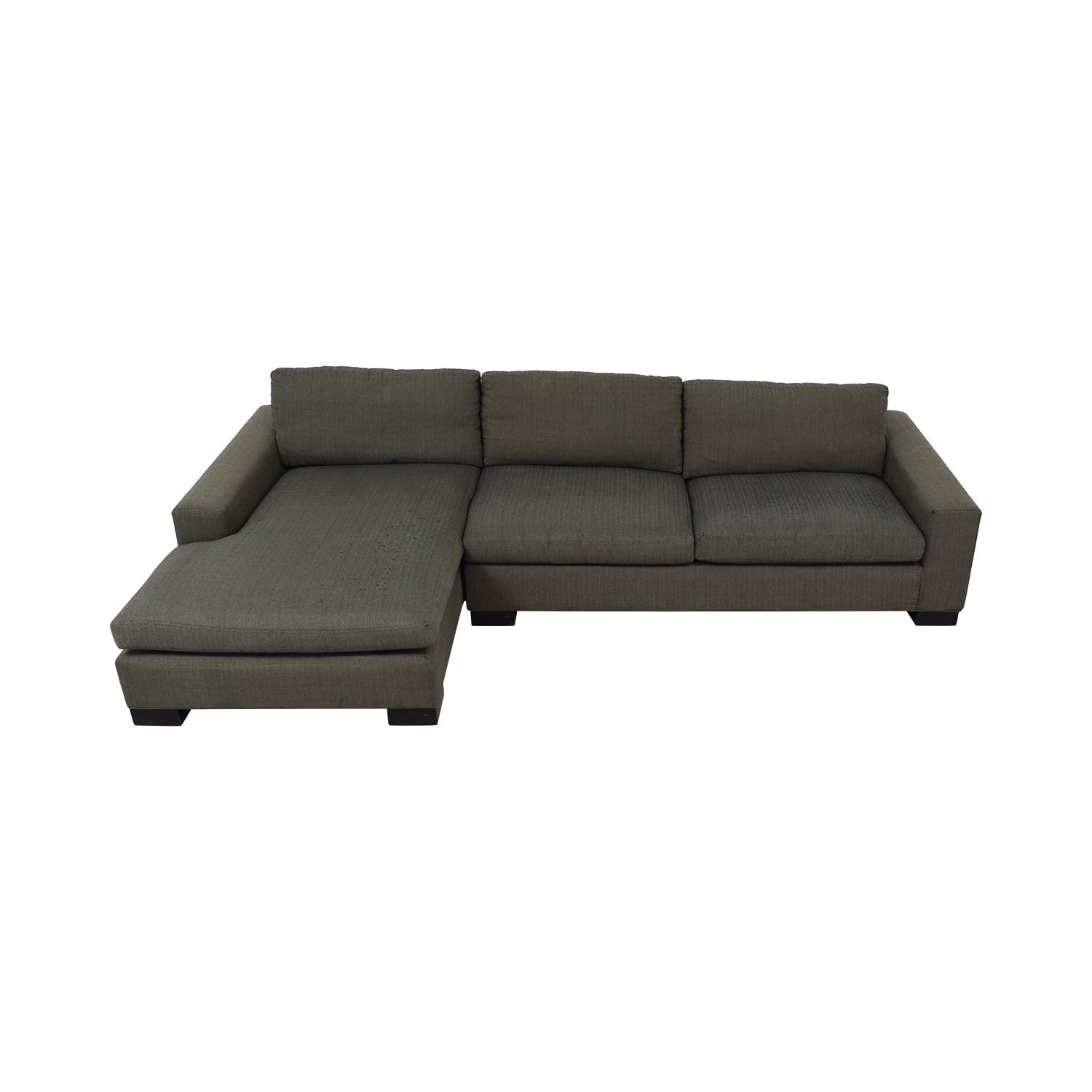 Room & Board Brown Chaise Sectional / Sectionals