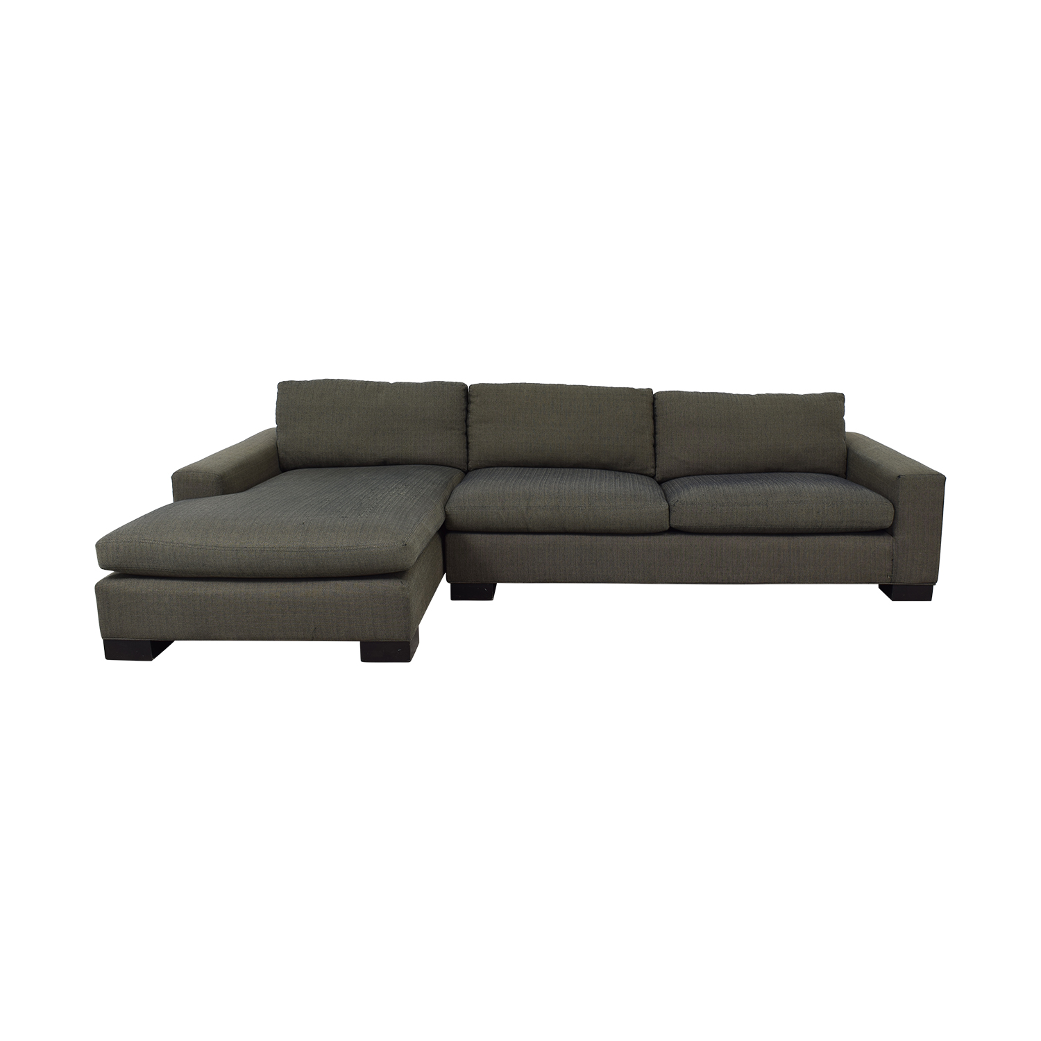 Room & Board Room & Board Brown Chaise Sectional nj