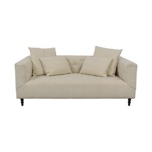 shop Ms. Chesterfield Vanilla Tufted Single Cushion Sofa Interior Define Sofas