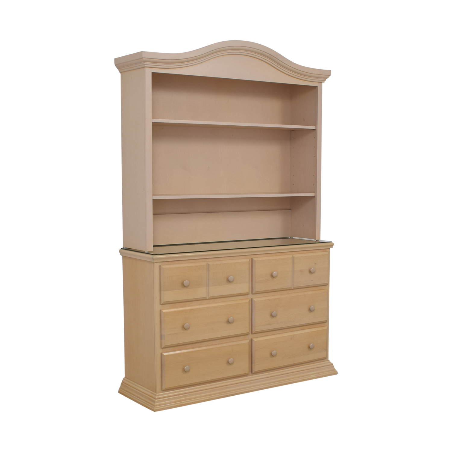 Modern Six-Drawer Dresser brown