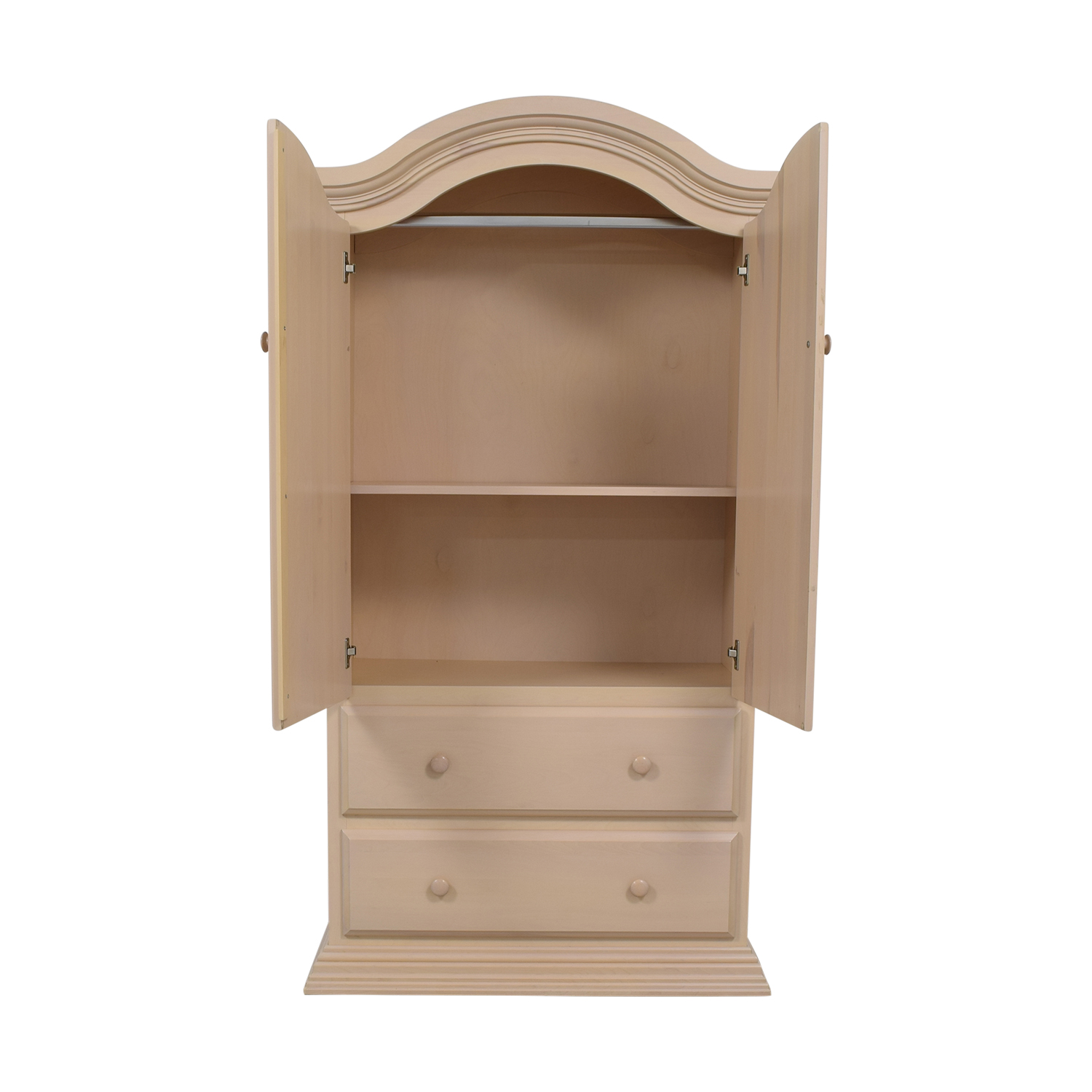 Two-Drawer Clothing Armoire White