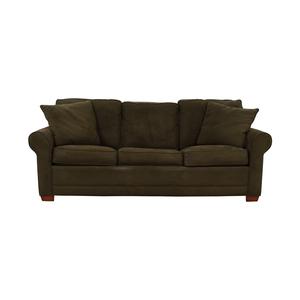 Raymour & Flanigan Raymour & Flanigan Brown Microfiber Convertible Three-Cushion Sofa used