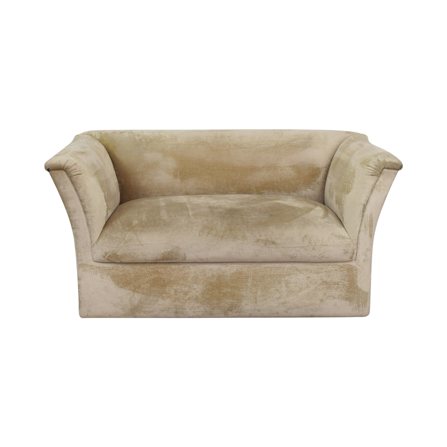 J Robert Scott J Robert Scott Beige Brushed Velvet Loveseat nj