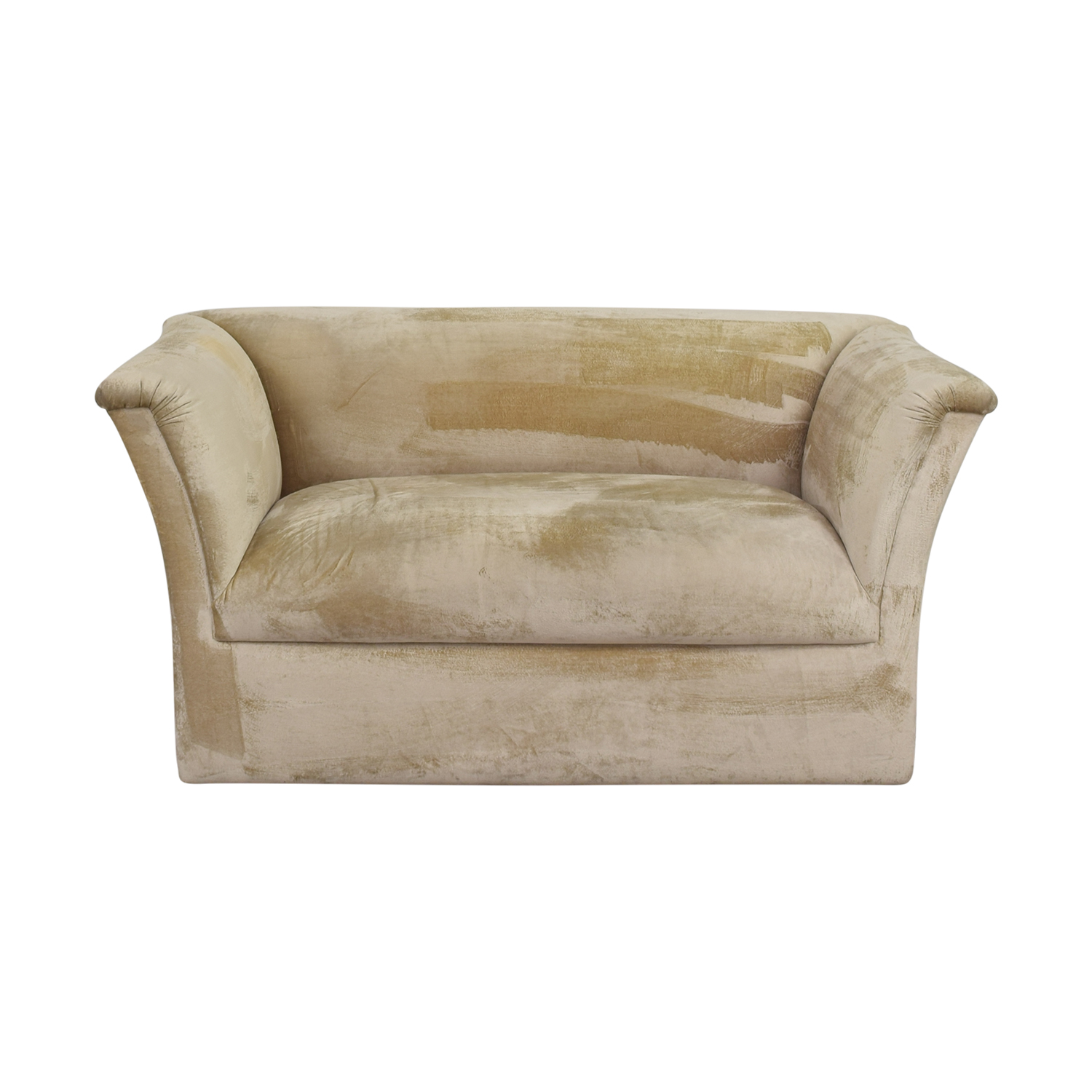 J Robert Scott J Robert Scott Beige Brushed Velvet Loveseat tan