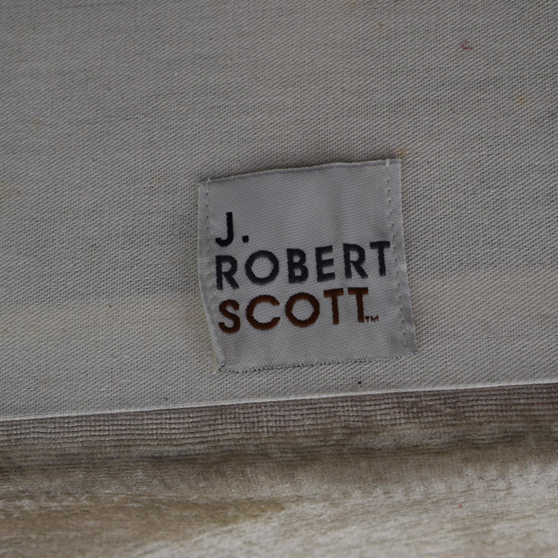 J Robert Scott J Robert Scott Beige Brushed Velvet Loveseat
