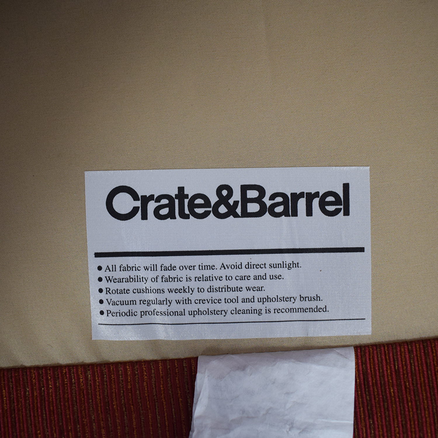 Crate & Barrel Crate & Barrel Chili Red Accent Chair Accent Chairs