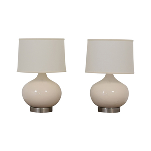 Crate & Barrel Crate & Barrel Table Lamp Set used