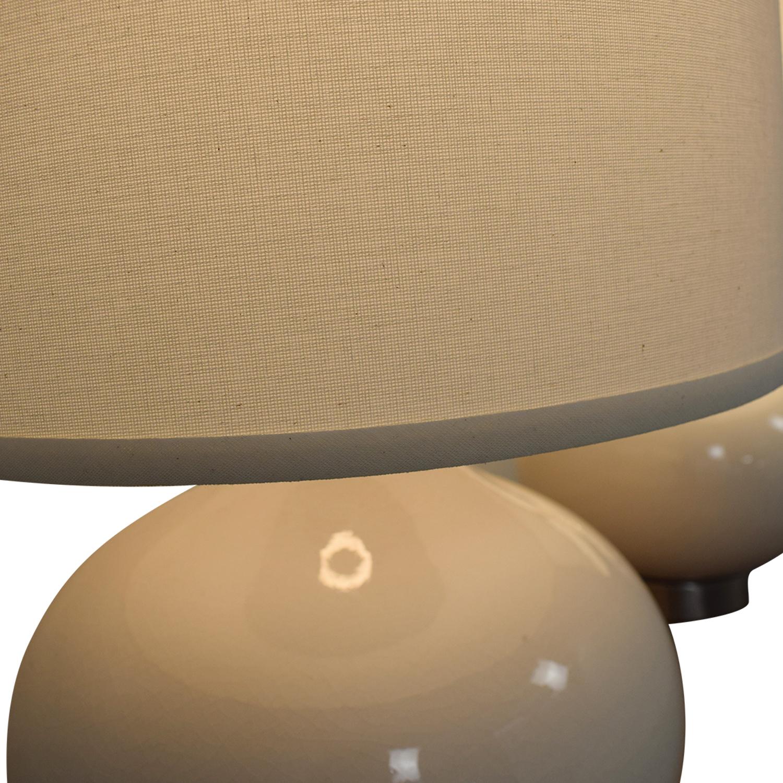 Crate & Barrel Crate & Barrel Table Lamp Set white