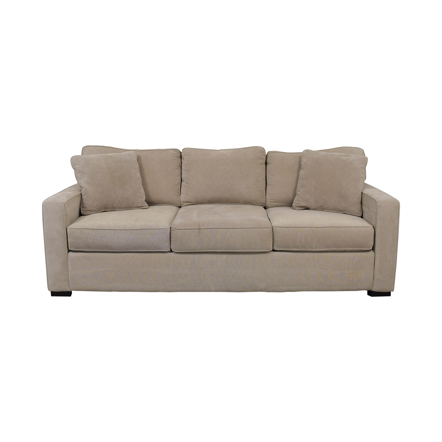 Macy's Macy's Radley Beige Three-Cushion Sofa beige