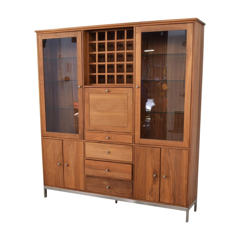 Room & Board Room & Board Walnut Wine Display Cabinet Cabinets & Sideboards