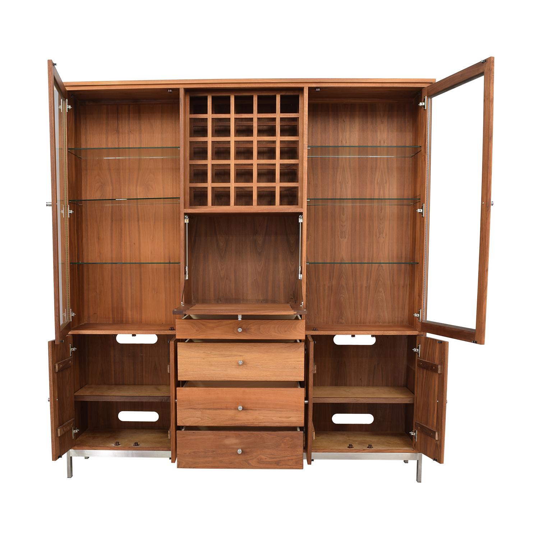 Room & Board Room & Board Walnut Wine Display Cabinet on sale