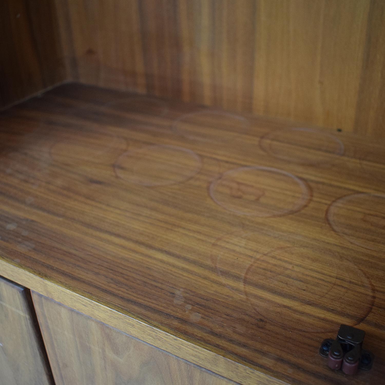 Room & Board Walnut Wine Display Cabinet Room & Board
