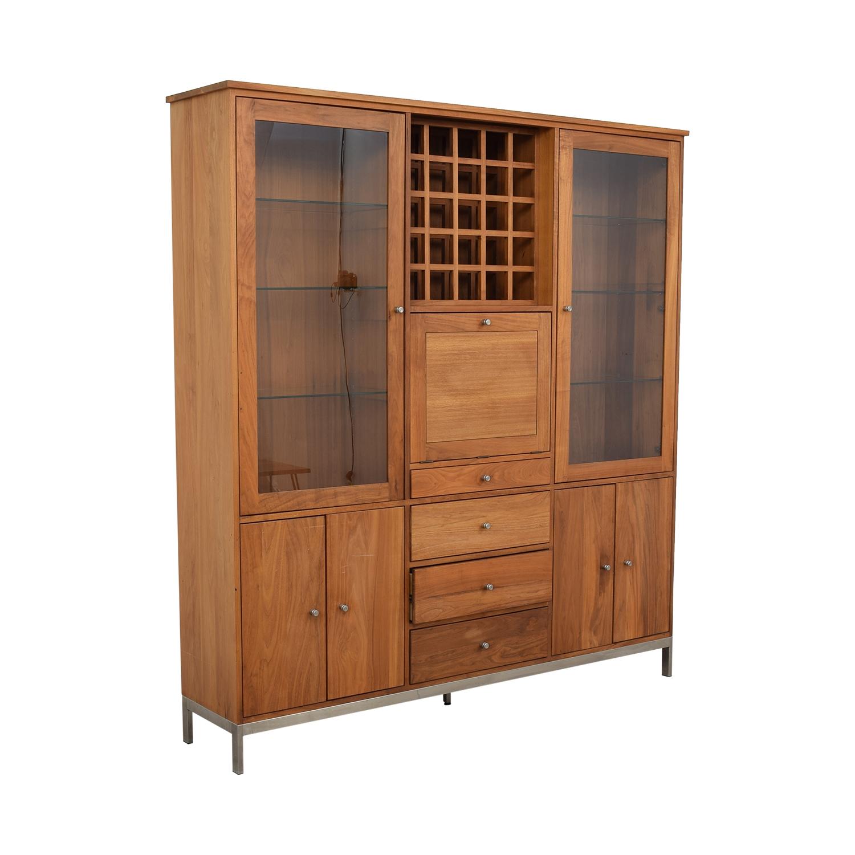 shop Room & Board Walnut Wine Display Cabinet Room & Board