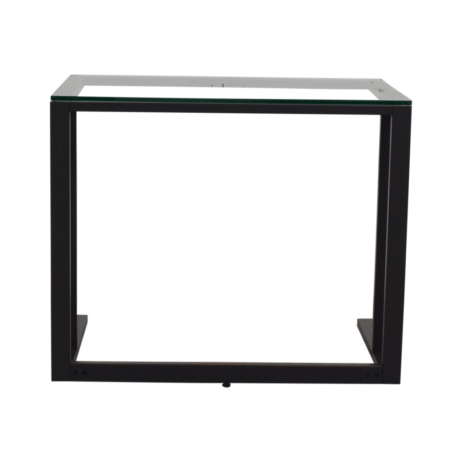 Black and Glass Desk second hand