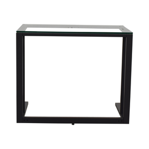 Black and Glass Desk dimensions