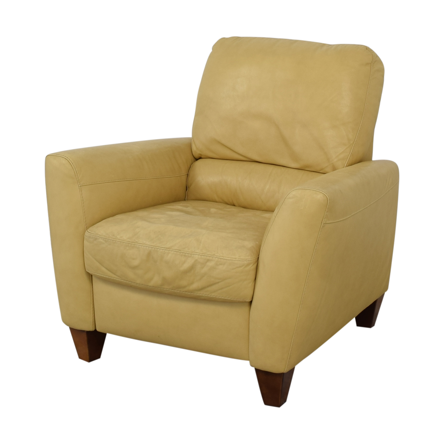 Macy's Macy's Mustard Yellow Recliner dimensions