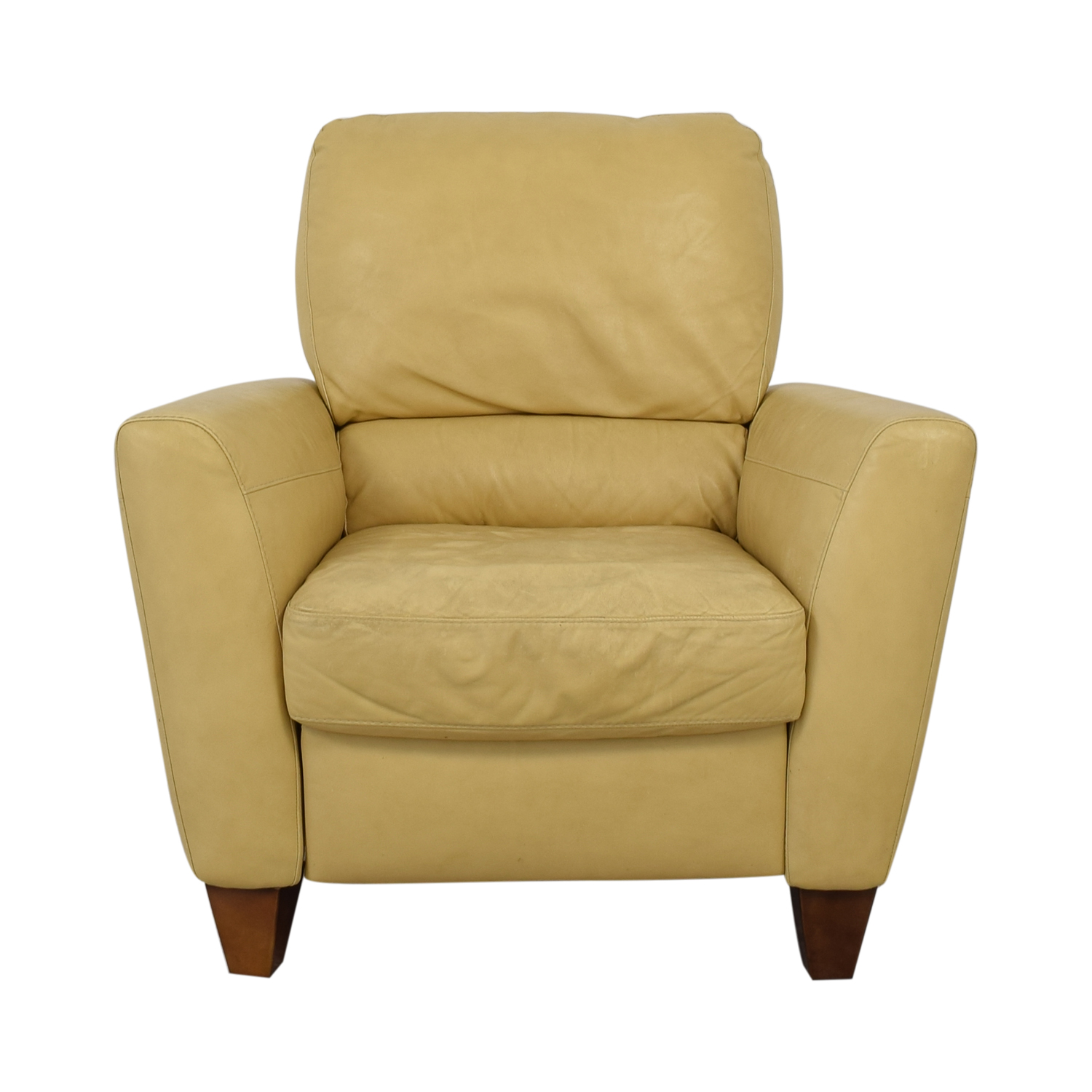 Macy's Mustard Yellow Recliner sale