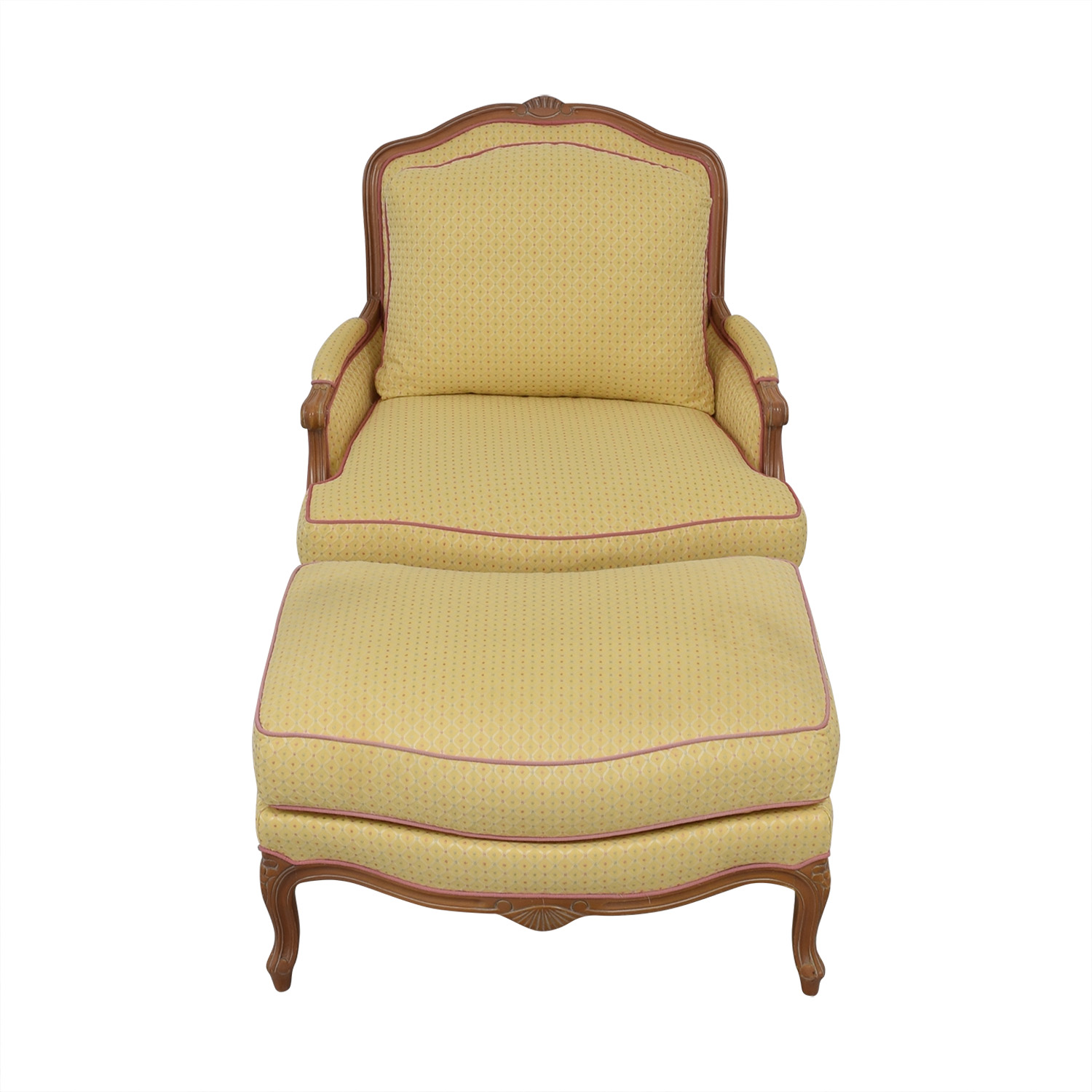 Ashley Manor Ashley Manor Chair with Ottoman yellow