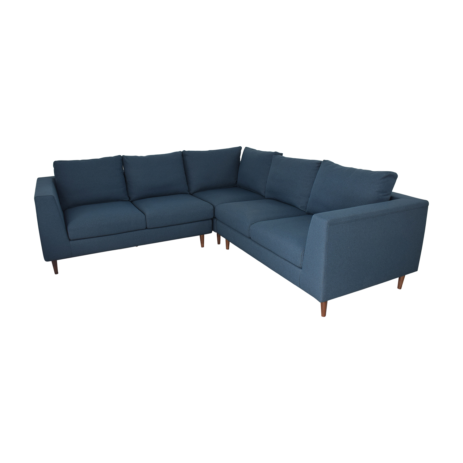 Pleasant 56 Off Asher Aegean Blue Sectional With Down Alternative Cushions Sofas Pdpeps Interior Chair Design Pdpepsorg
