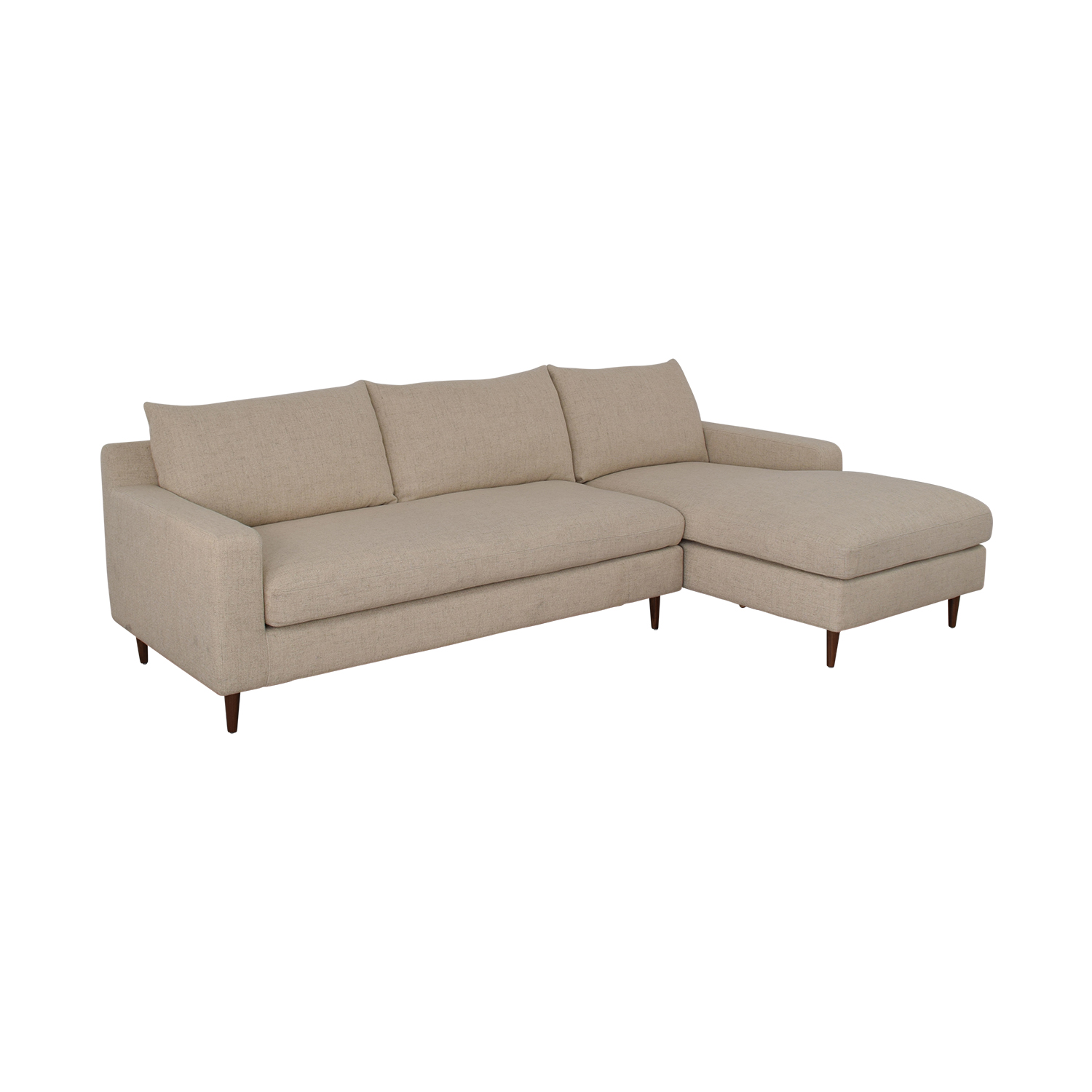 Interior Define Sloan Beige Right Arm Chaise Sectional dimensions