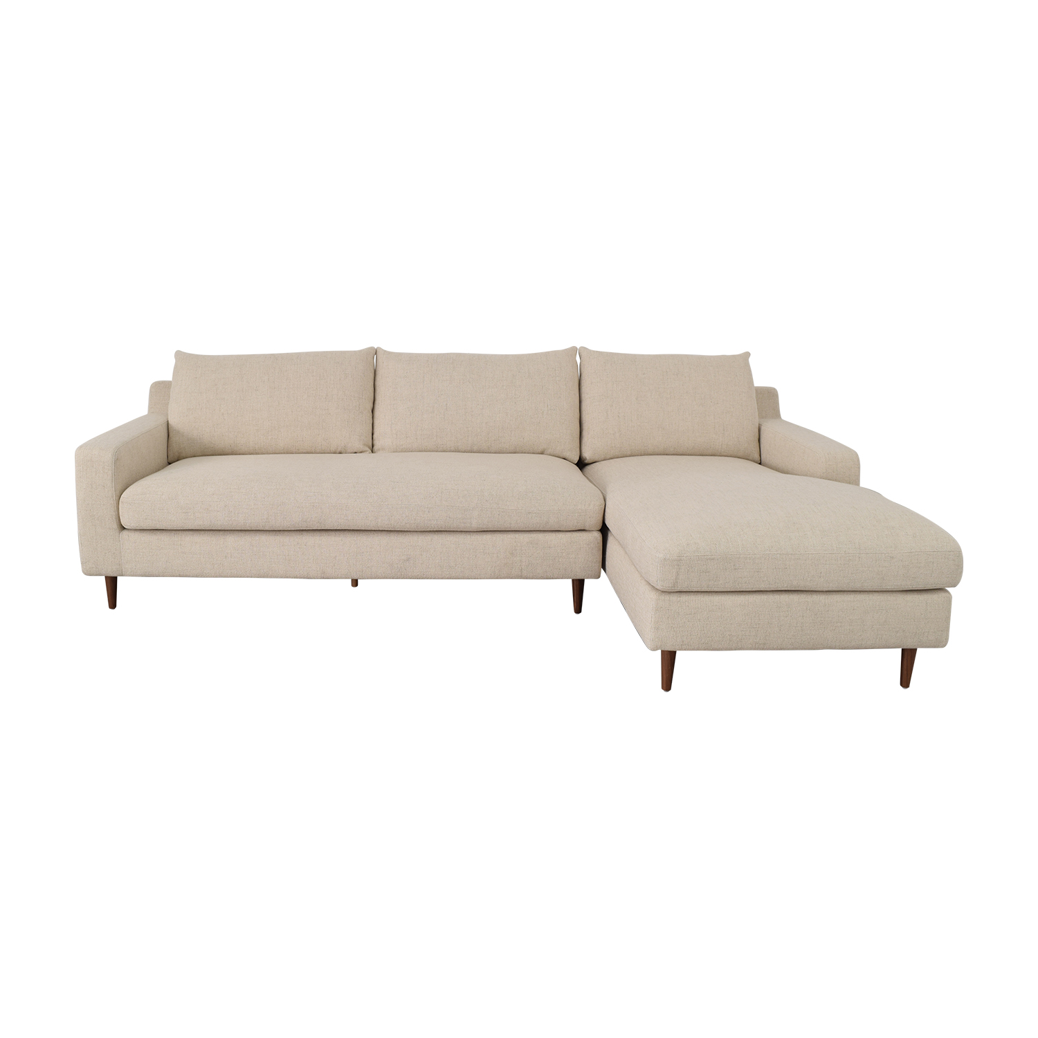 Interior Define Sloan Beige Right Arm Chaise Sectional Sofas
