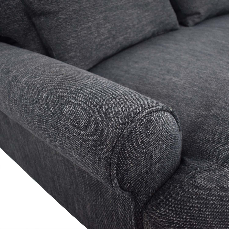 buy Interior Define Maxwell Plush Sateen Ink Single Cushion Sofa online