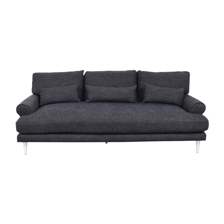 Maxwell Plush Sateen Ink Single Cushion Sofa sale