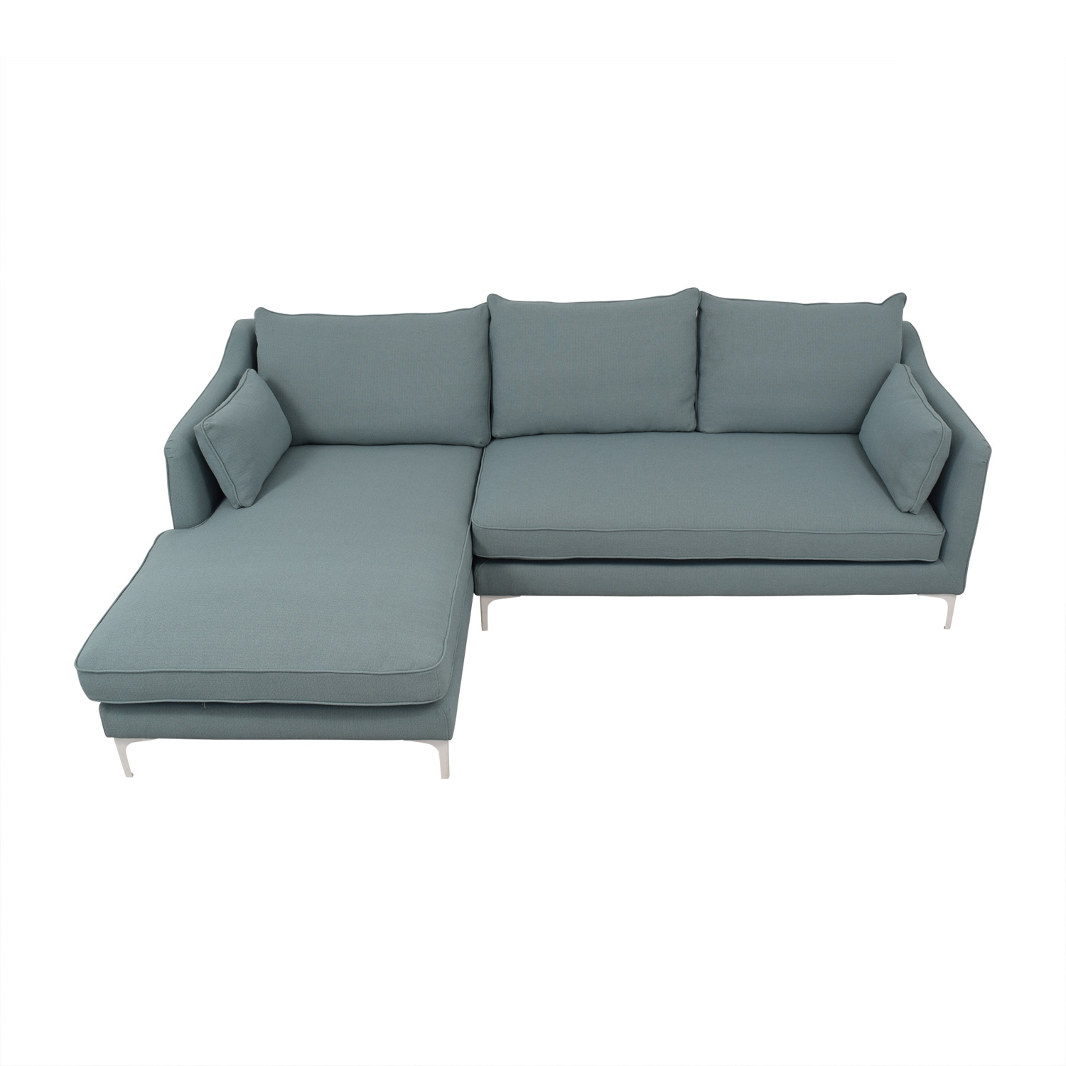 Tremendous 72 Off Mint Green Caitlin Left Arm Chaise Sectional Sofa Sofas Download Free Architecture Designs Sospemadebymaigaardcom