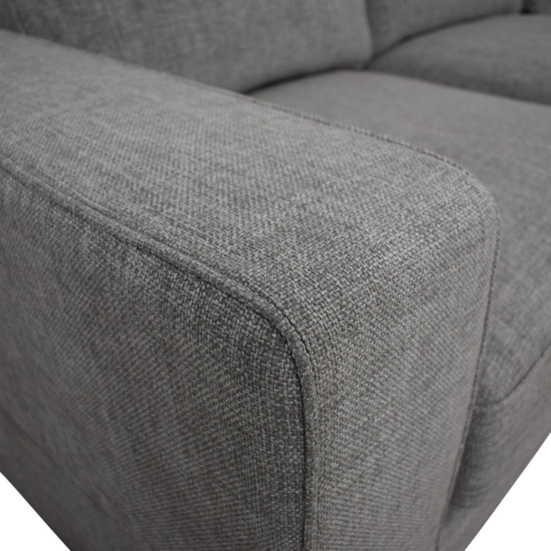 Light Gray Ainsley Right Arm Deep Sectional Sofa / Sofas