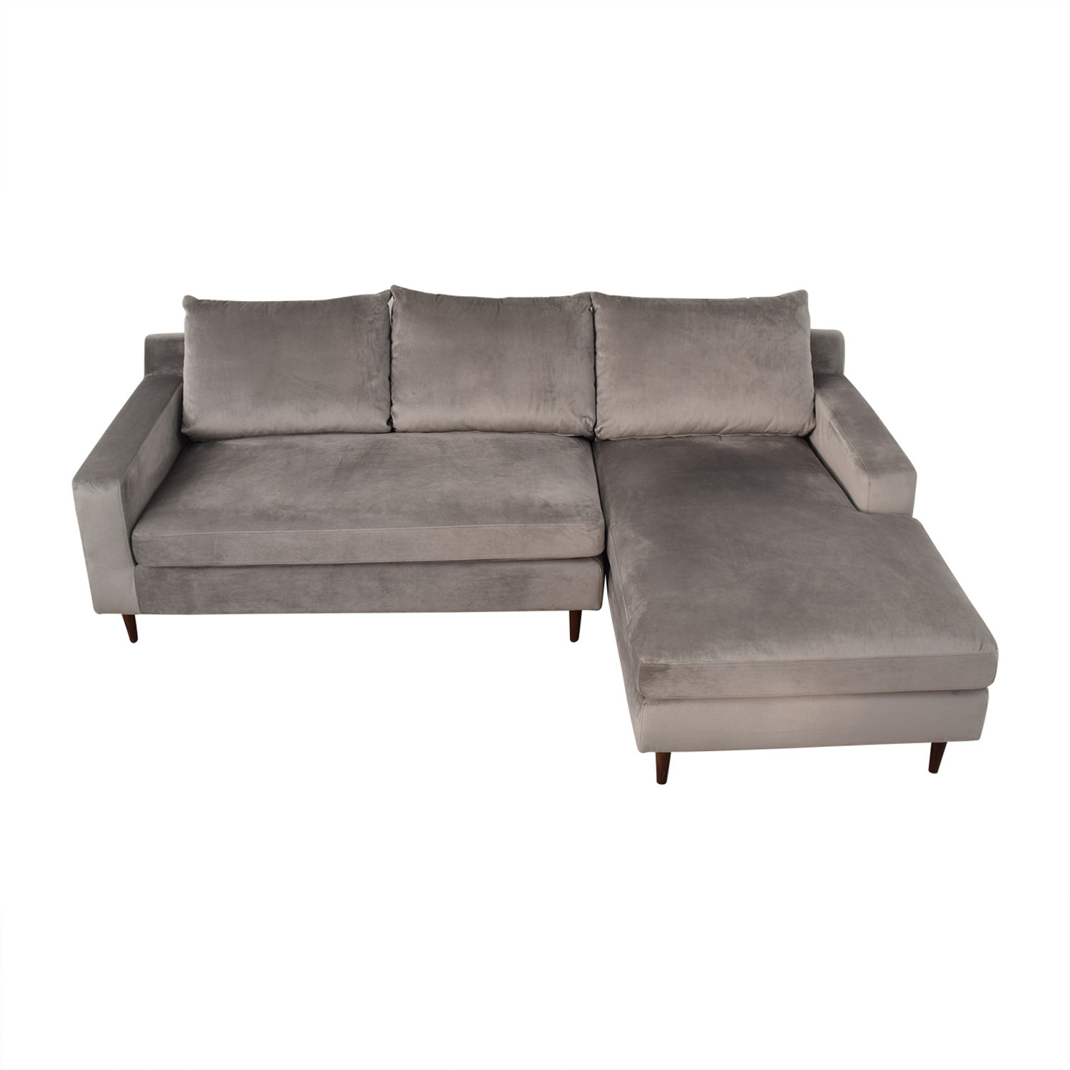 shop Sloan Grey Right Chaise Sectional Interior Define Sofas