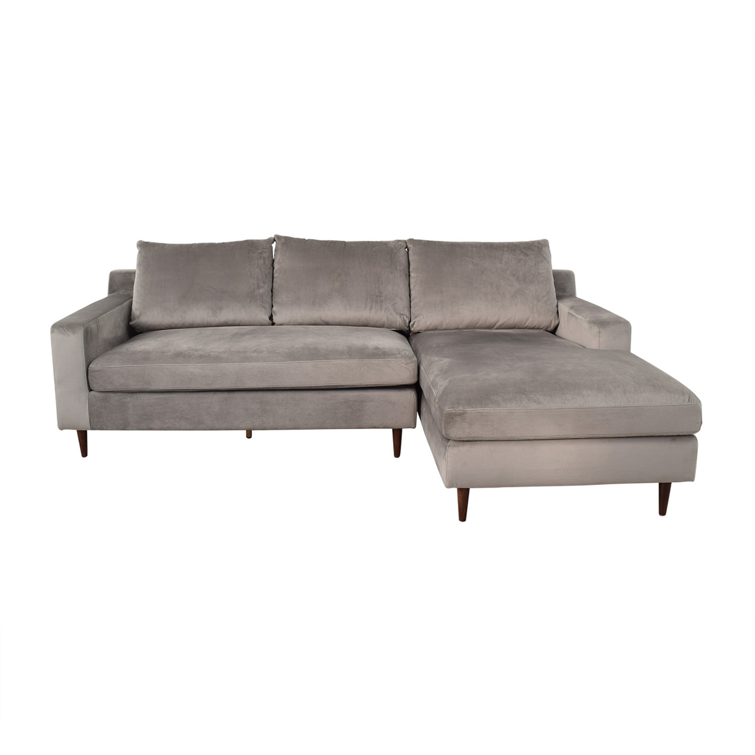 Interior Define Sloan Grey Right Chaise Sectional price
