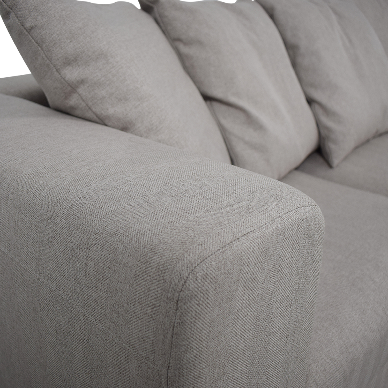 buy Toby Gray Three Cushion Classic Sofa Interior Define