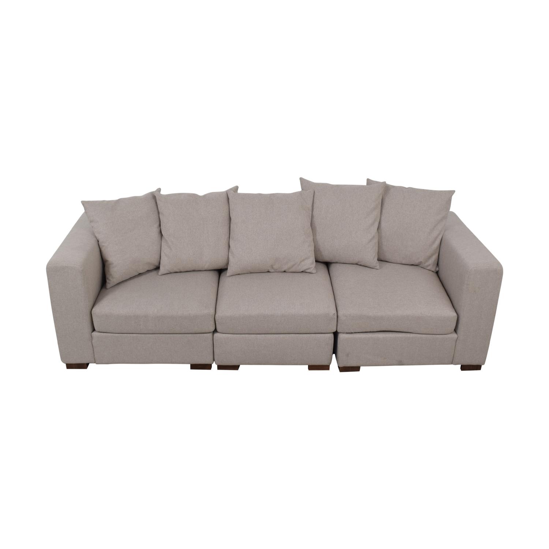 shop Toby Gray Three Cushion Classic Sofa Interior Define Sofas