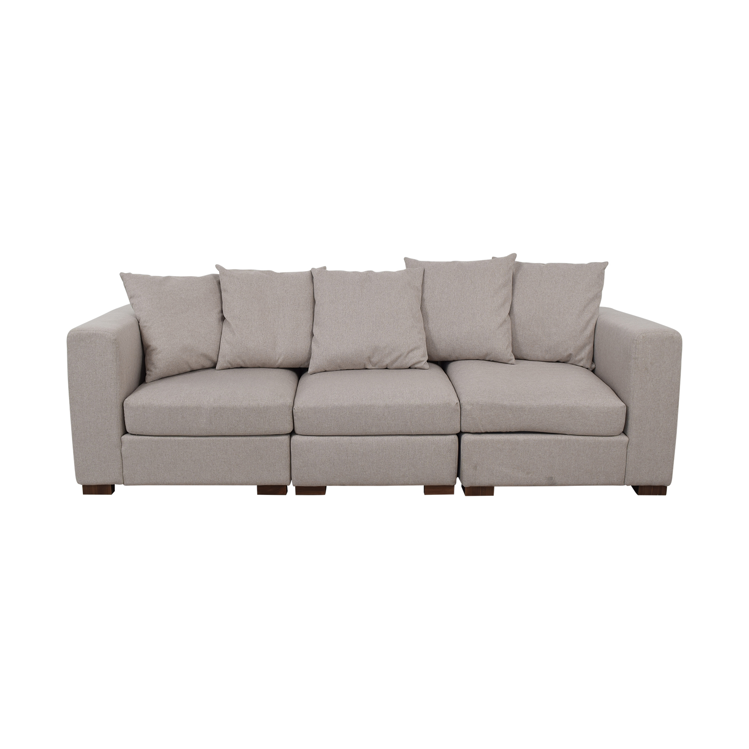 buy Toby Gray Three Cushion Classic Sofa Interior Define
