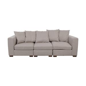 buy Interior Define Toby Gray Three Cushion Classic Sofa online
