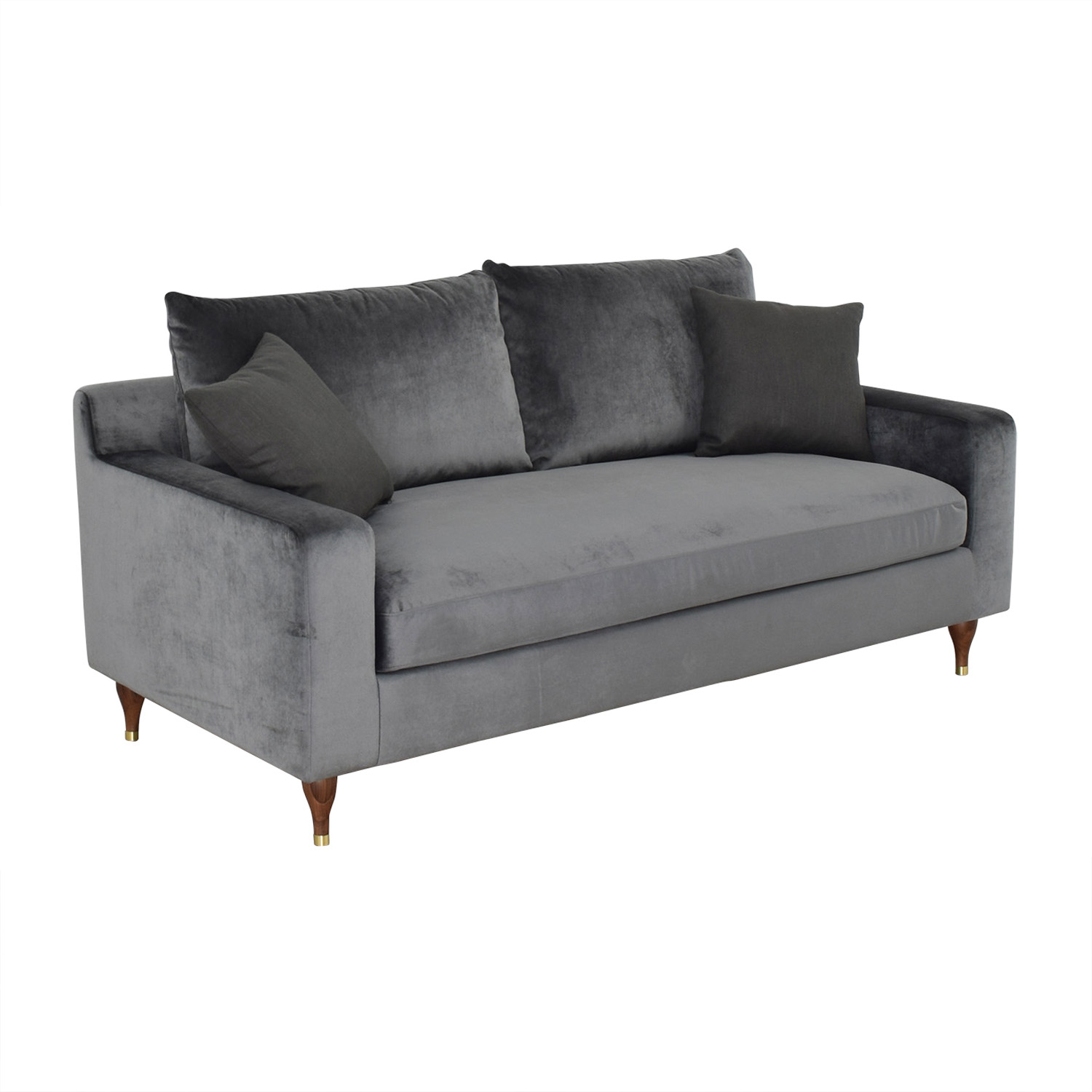 Sloan Mod Velvet Narwhal Single Cushion Sofa Interior Define