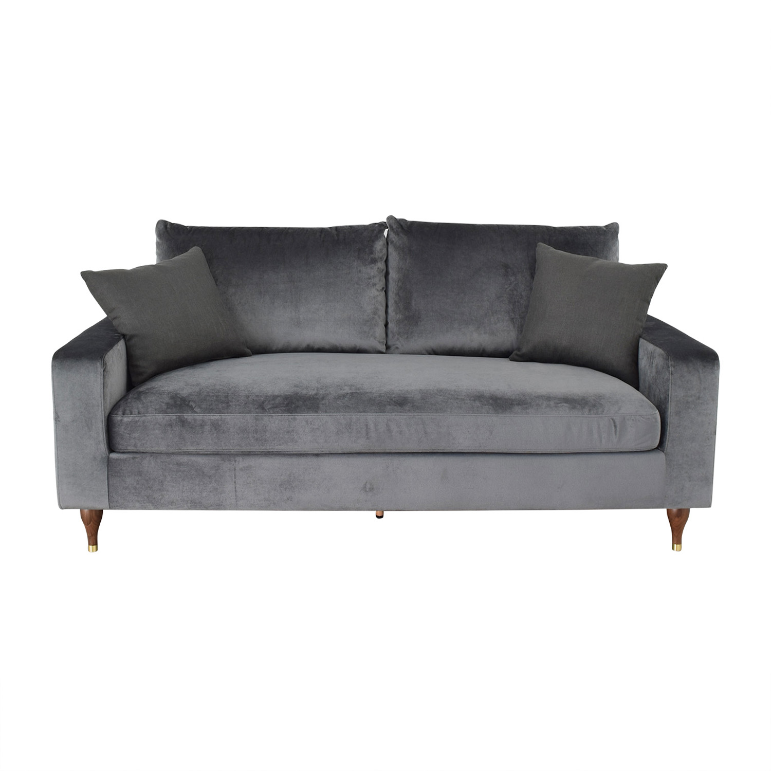 shop Sloan Mod Velvet Narwhal Single Cushion Sofa Interior Define Sofas