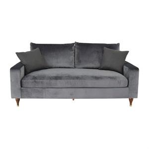 Interior Define Sloan Mod Velvet Narwhal Single Cushion Sofa for sale