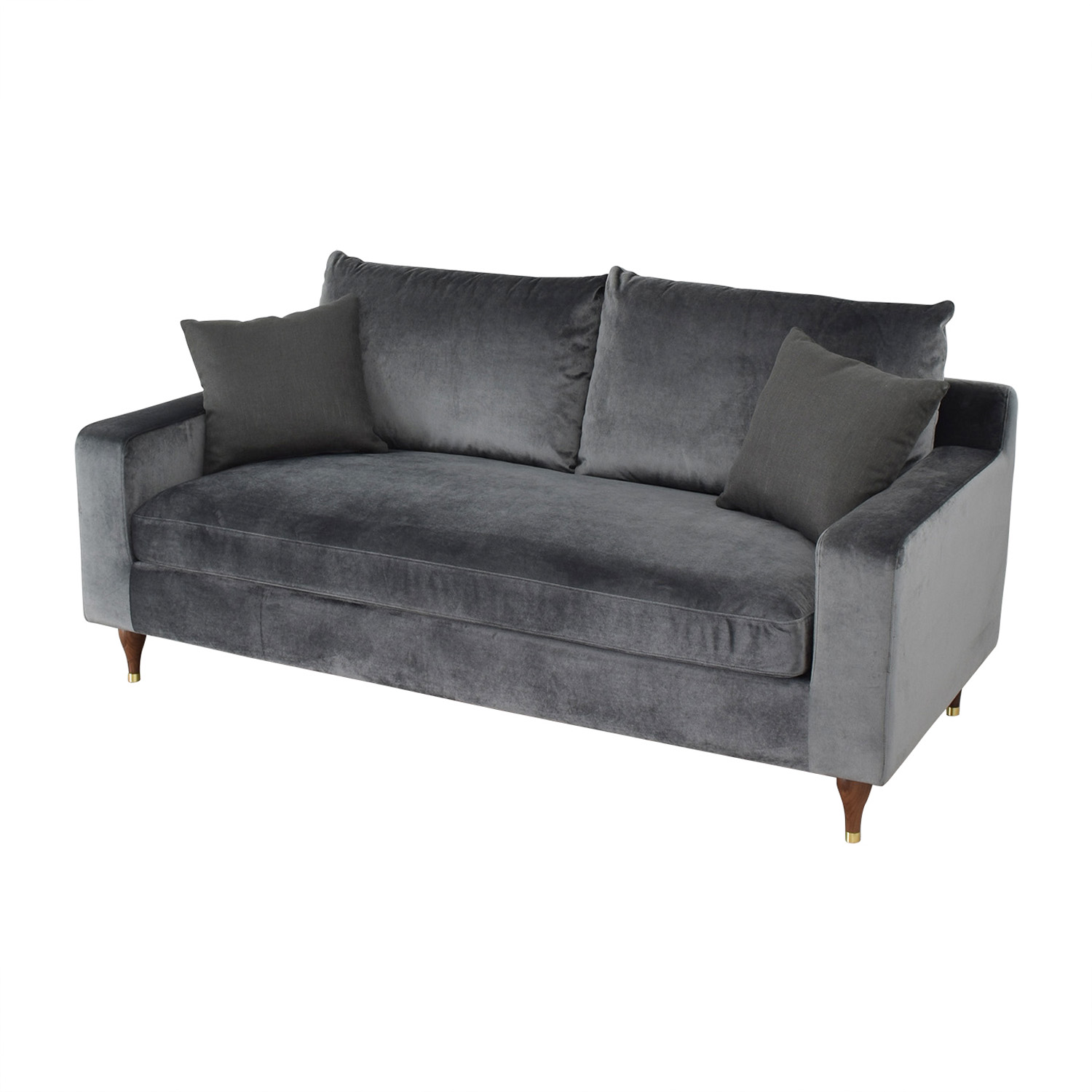 Sloan Mod Velvet Narwhal Single Cushion Sofa / Sofas