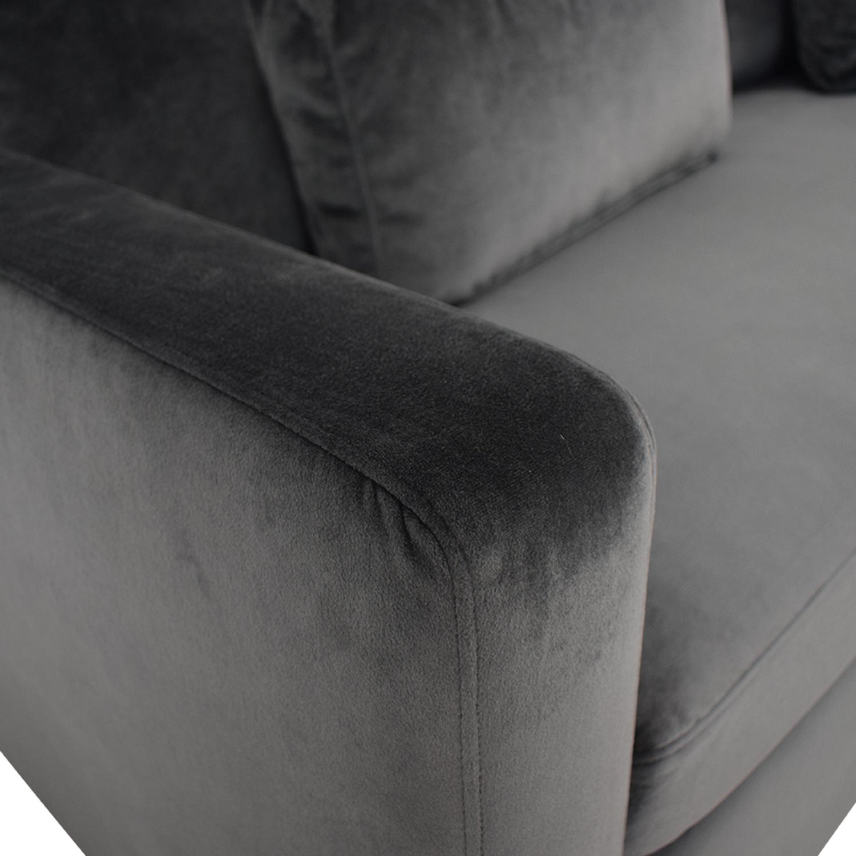 Interior Define Charly Light Blue Single Cushion Queen Convertible Sofa