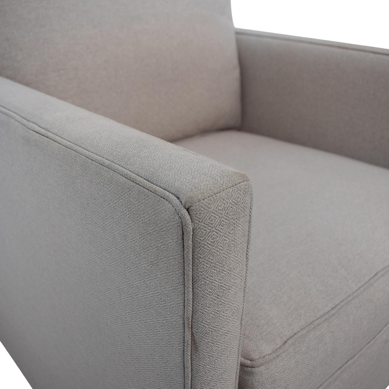 Crate & Barrel Crate & Barrel Dryden Grey Accent Chair Gray