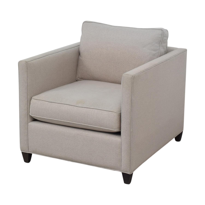 Crate & Barrel Crate & Barrel Dryden Grey Accent Chair discount