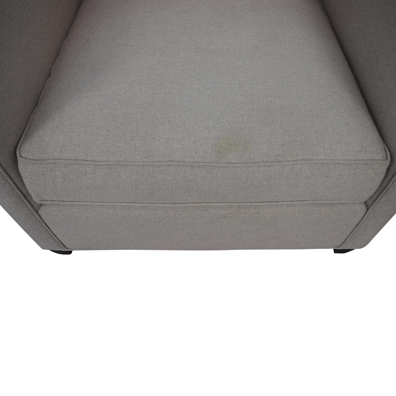 shop Crate & Barrel Dryden Grey Accent Chair Crate & Barrel