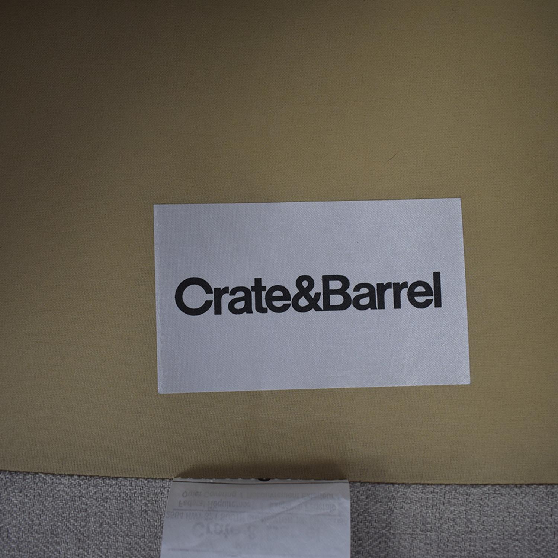 Crate & Barrel Crate & Barrel Dryden Grey Accent Chair nj