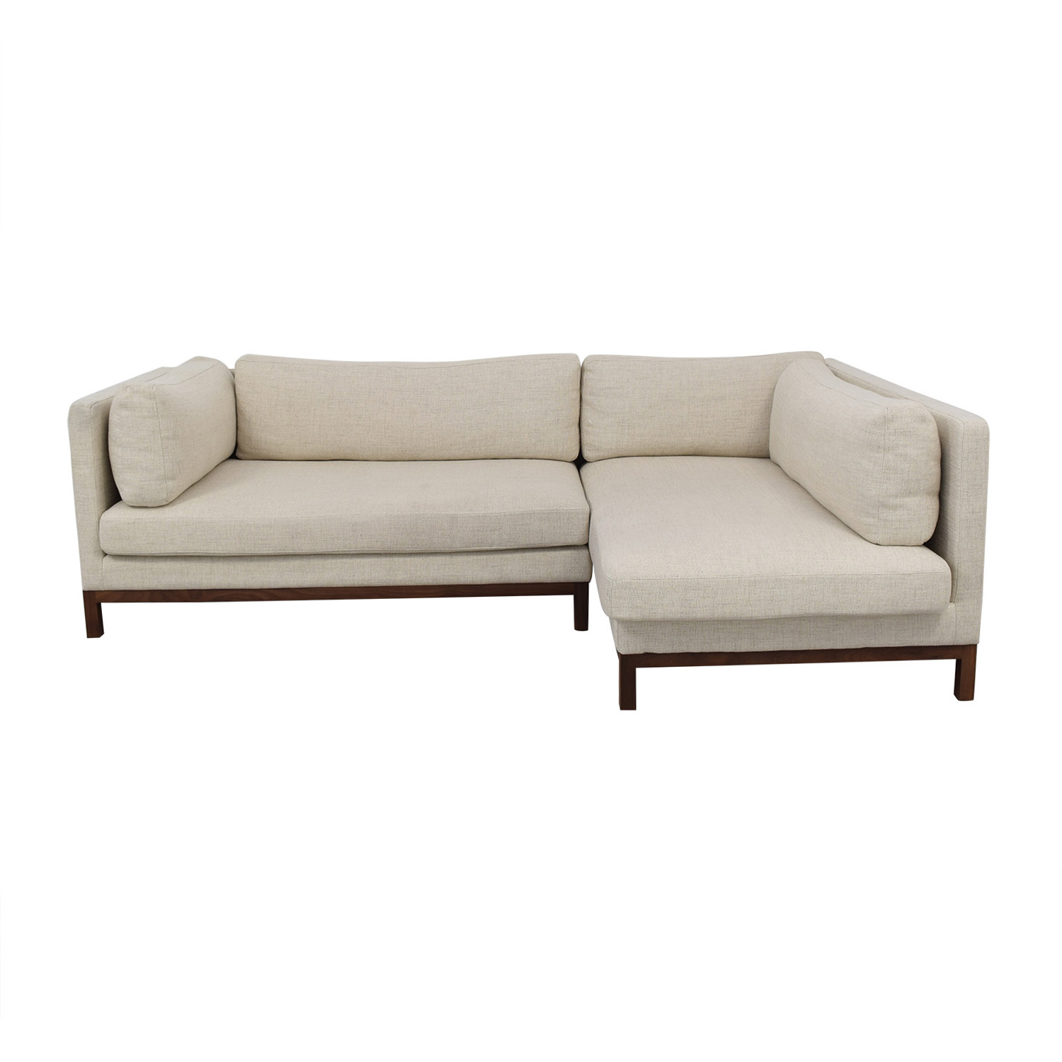 62 Off Jasper Pebble Weave Right Chaise Sectional Sofas