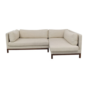 Interior Define Jasper Pebble Weave Right Chaise Sectional nyc