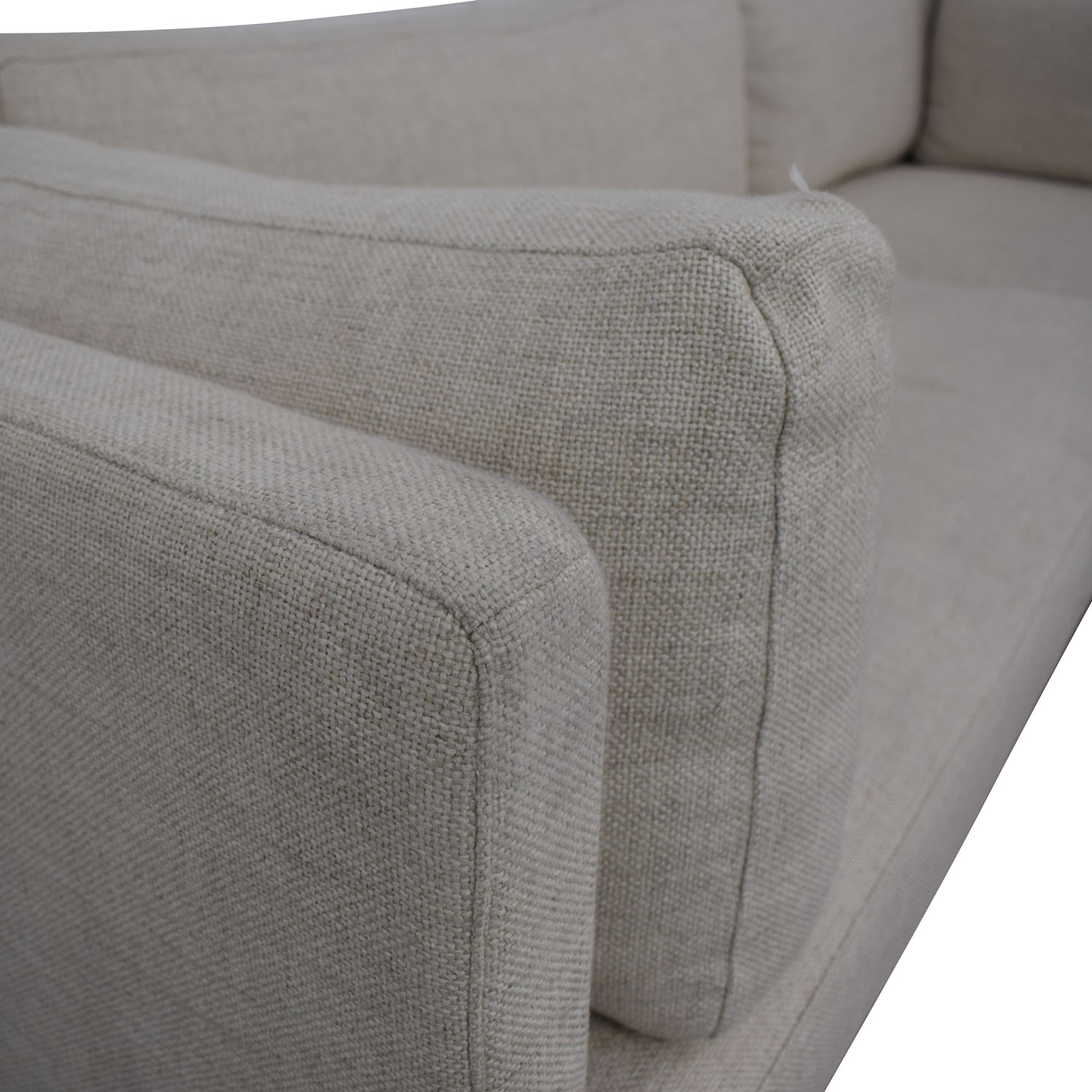 Interior Define Jasper Pebble Weave Right Chaise Sectional dimensions