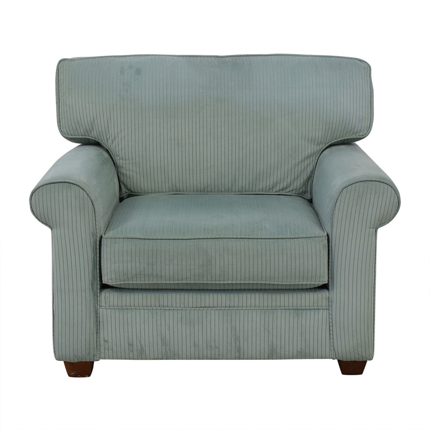Havertys Havertys Grey Lux Armchair gray