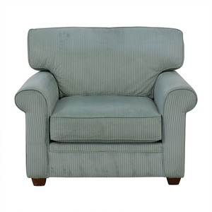 Havertys Grey Lux Armchair sale